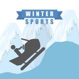 Σχέδιο χειμερινού αθλητισμού ελεύθερη απεικόνιση δικαιώματος