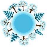 Σχέδιο χειμερινού υποβάθρου με αφηρημένο τυποποιημένο Στοκ Εικόνα
