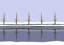 Σχέδιο χειμερινών τοπίων Στοκ Εικόνες