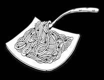 Σχέδιο χεριών νουντλς Doodle Στοκ φωτογραφία με δικαίωμα ελεύθερης χρήσης