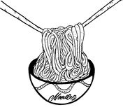 Σχέδιο χεριών νουντλς Doodle Στοκ εικόνα με δικαίωμα ελεύθερης χρήσης