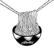 Σχέδιο χεριών νουντλς Doodle Στοκ εικόνες με δικαίωμα ελεύθερης χρήσης