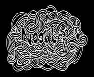 Σχέδιο χεριών νουντλς Doodle Στοκ φωτογραφίες με δικαίωμα ελεύθερης χρήσης