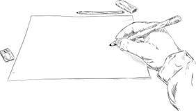 Σχέδιο χεριών Στοκ εικόνες με δικαίωμα ελεύθερης χρήσης