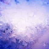 Σχέδιο χιονιού στο παράθυρο Στοκ Εικόνες