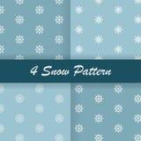 4 σχέδιο χιονιού Στοκ Εικόνες