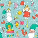 Σχέδιο Χριστουγέννων στο χειμερινό ύφος Στοκ φωτογραφία με δικαίωμα ελεύθερης χρήσης