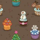 Σχέδιο Χριστουγέννων cupcake Στοκ Φωτογραφίες