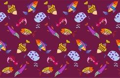 Σχέδιο ψαριών κινούμενων σχεδίων Στοκ Εικόνες