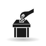Σχέδιο ψηφοφορίας πέρα από το άσπρο υπόβαθρο, διανυσματική απεικόνιση Στοκ Εικόνες