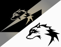Σχέδιο λύκων λογότυπων Στοκ Εικόνες