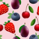 Σχέδιο δύναμης εικονιδίων φρούτων ελεύθερη απεικόνιση δικαιώματος