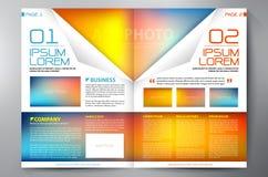 Σχέδιο δύο φυλλάδιων πρότυπο σελίδων a4 Στοκ φωτογραφία με δικαίωμα ελεύθερης χρήσης