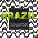Σχέδιο ύφους της Βραζιλίας Στοκ φωτογραφίες με δικαίωμα ελεύθερης χρήσης