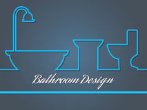 Σχέδιο Bahtroom Στοκ φωτογραφία με δικαίωμα ελεύθερης χρήσης
