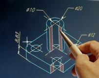 Σχέδιο CAD στοκ φωτογραφία με δικαίωμα ελεύθερης χρήσης