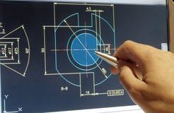Σχέδιο CAD στοκ εικόνες