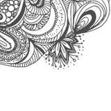 Σχέδιο Doodle με συρμένη τη χέρι διακόσμηση Στοκ Φωτογραφίες