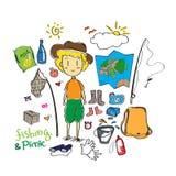 Σχέδιο Doodle πικ-νίκ Στοκ Εικόνα
