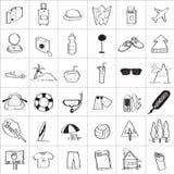 Σχέδιο Doodle ταξιδιού Στοκ εικόνες με δικαίωμα ελεύθερης χρήσης