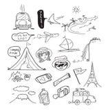 Σχέδιο Doodle ταξιδιού Στοκ Εικόνες