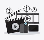 Σχέδιο Filmstrip και βιντεοκάμερων Στοκ Φωτογραφίες