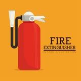 Σχέδιο Firefigther πέρα από την πορτοκαλιά διανυσματική απεικόνιση υποβάθρου ελεύθερη απεικόνιση δικαιώματος