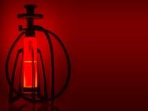 Σχέδιο hookah στο κόκκινο υπόβαθρο Στοκ φωτογραφία με δικαίωμα ελεύθερης χρήσης