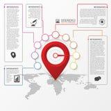 Σχέδιο Infographic Πρότυπο εκθέσεων με το δείκτη θέσης διάνυσμα ελεύθερη απεικόνιση δικαιώματος