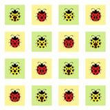 Σχέδιο Ladybugs Στοκ φωτογραφία με δικαίωμα ελεύθερης χρήσης