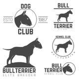 Σχέδιο logotypes, σύνολο ετικετών Θεού τεριέ λογαριασμών διανυσματική απεικόνιση
