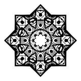 Σχέδιο Mandala διάτρητων Στοκ εικόνες με δικαίωμα ελεύθερης χρήσης