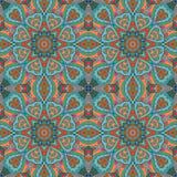 Σχέδιο Mandala doodle Ζωηρόχρωμη άνευ ραφής διακόσμηση Στοκ εικόνα με δικαίωμα ελεύθερης χρήσης