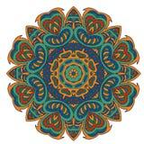 Σχέδιο Mandala doodle Ζωηρόχρωμη στρογγυλή διακόσμηση Στοκ εικόνες με δικαίωμα ελεύθερης χρήσης