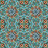 Σχέδιο Mandala doodle Ζωηρόχρωμη floral άνευ ραφής διακόσμηση Στοκ φωτογραφίες με δικαίωμα ελεύθερης χρήσης