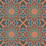 Σχέδιο Mandala doodle Ζωηρόχρωμη floral άνευ ραφής διακόσμηση Στοκ Εικόνες
