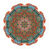 Σχέδιο Mandala doodle Ζωηρόχρωμη floral στρογγυλή διακόσμηση Στοκ εικόνες με δικαίωμα ελεύθερης χρήσης