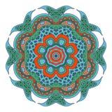 Σχέδιο Mandala doodle Στοκ Εικόνες
