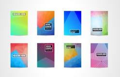 A4 σχέδιο Mininal κάλυψης φυλλάδιων με τις γεωμετρικές μορφές, ζωηρόχρωμες κλίσεις ελεύθερη απεικόνιση δικαιώματος