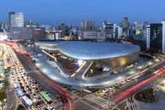 Σχέδιο Plaza Dongdaemun στη Σεούλ, Νότια Κορέα Στοκ Εικόνες