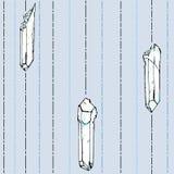 Σχέδιο Seamles με τα άσπρα κρύσταλλα Στοκ Εικόνες
