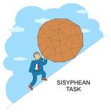 Σχέδιο Sisyphus γραμμών διανυσματική απεικόνιση