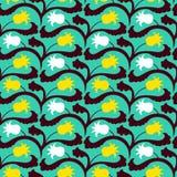 Σχέδιο Suzani με τα μοτίβα κατοίκου του Ουζμπεκιστάν και του Καζάκου Στοκ Εικόνες