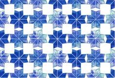 Σχέδιο Watercolor με snowflakes Στοκ Φωτογραφίες
