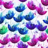 Σχέδιο Watercolor των διαφορετικών λουλουδιών Στοκ Εικόνα