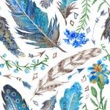 Σχέδιο Watercolor Boho Στοκ Φωτογραφίες
