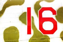 Σχήμα δέκα έξι 16 για το στρατιωτικό εξοπλισμό Στοκ Εικόνα