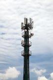 Σχήμα πορτρέτου πύργων κινητών τηλεφώνων Στοκ Φωτογραφίες