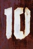 Σχήμα 10 χρώμα grunge στο μέταλλο Στοκ Φωτογραφίες