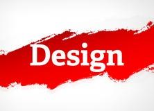 Σχεδίου κόκκινη απεικόνιση υποβάθρου βουρτσών αφηρημένη διανυσματική απεικόνιση